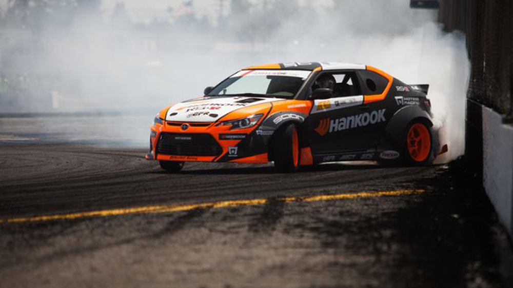 FREDRIC AASBO CHASING FORMULA D TITLE WITH TWO ROUNDS TO GO? HANKOOK TIRE SCION RACING TC IN 2014 CHAMPIONSHIP HUNT