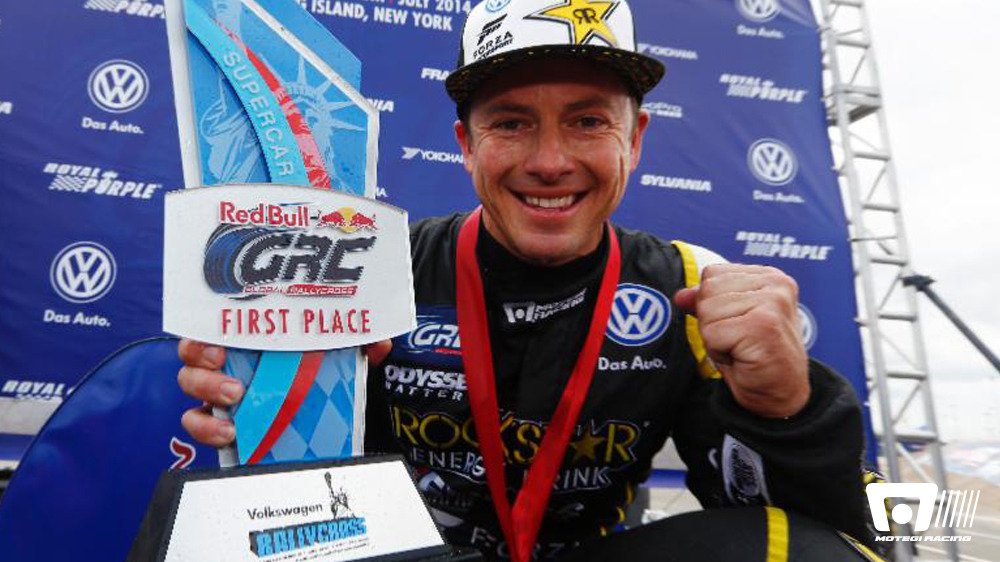 ROCKSTAR ENERGY DRINK DRIVER TANNER FOUST WINS NEW YORK RALLYCROSS STARTS AND SET-UP KEYS TO GRC VICTORY